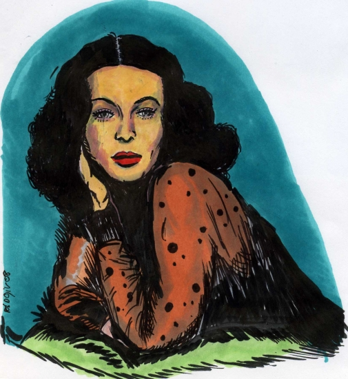 Hedy Lamarr by didgiv
